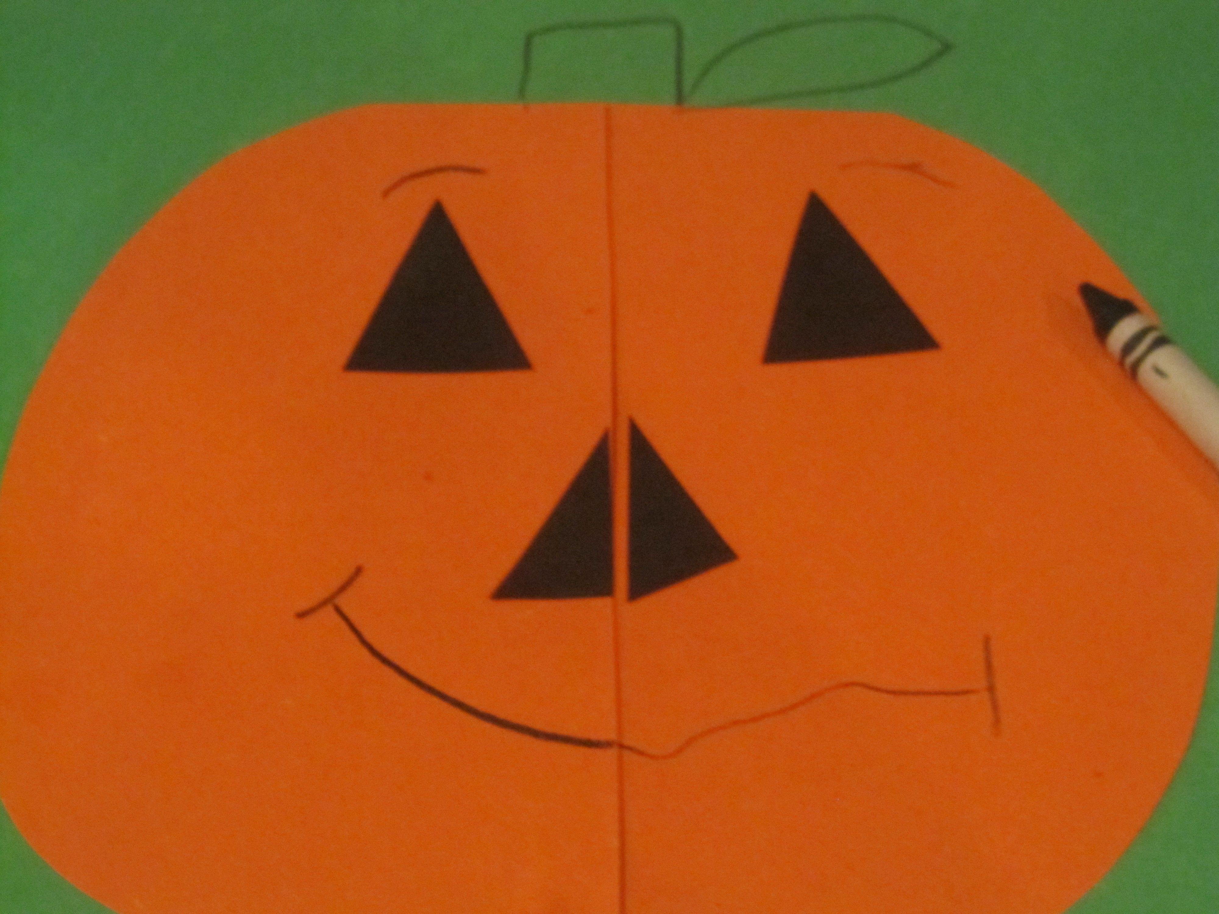 Symmetrical Pumpkins In Preschool