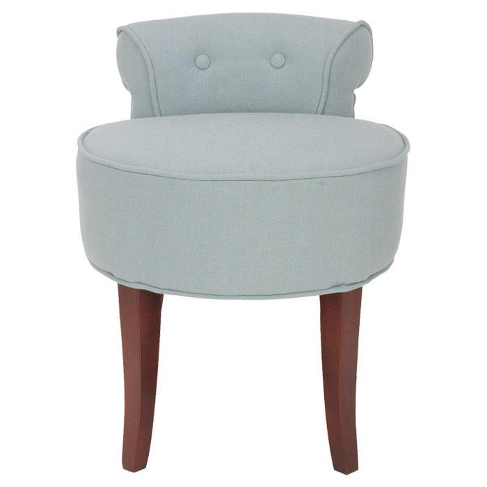 Hannah Vanity Chair Vanity Stool Vanity Chair Blue Vanity