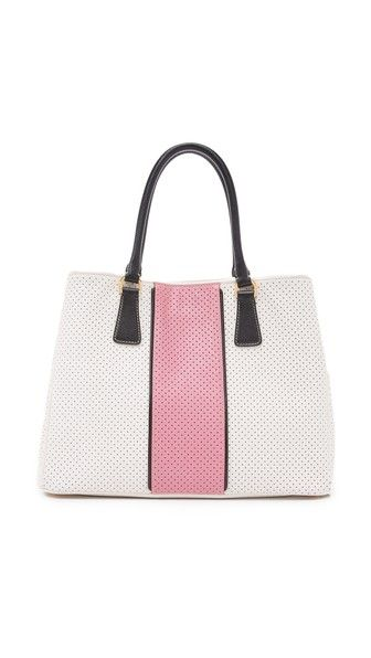 e76c8705b6d7 What Goes Around Comes Around Prada Perforated Saffiano Tote Bag  (Previously Owned)