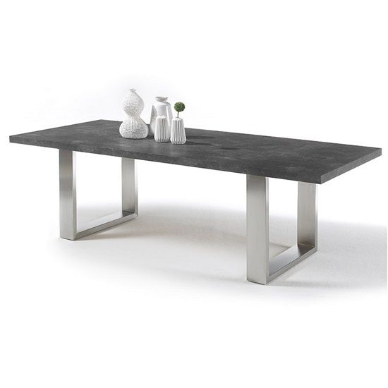 Extra Large Dining Room Table: Savona Dining Table Extra Large In Anthracite Stainless