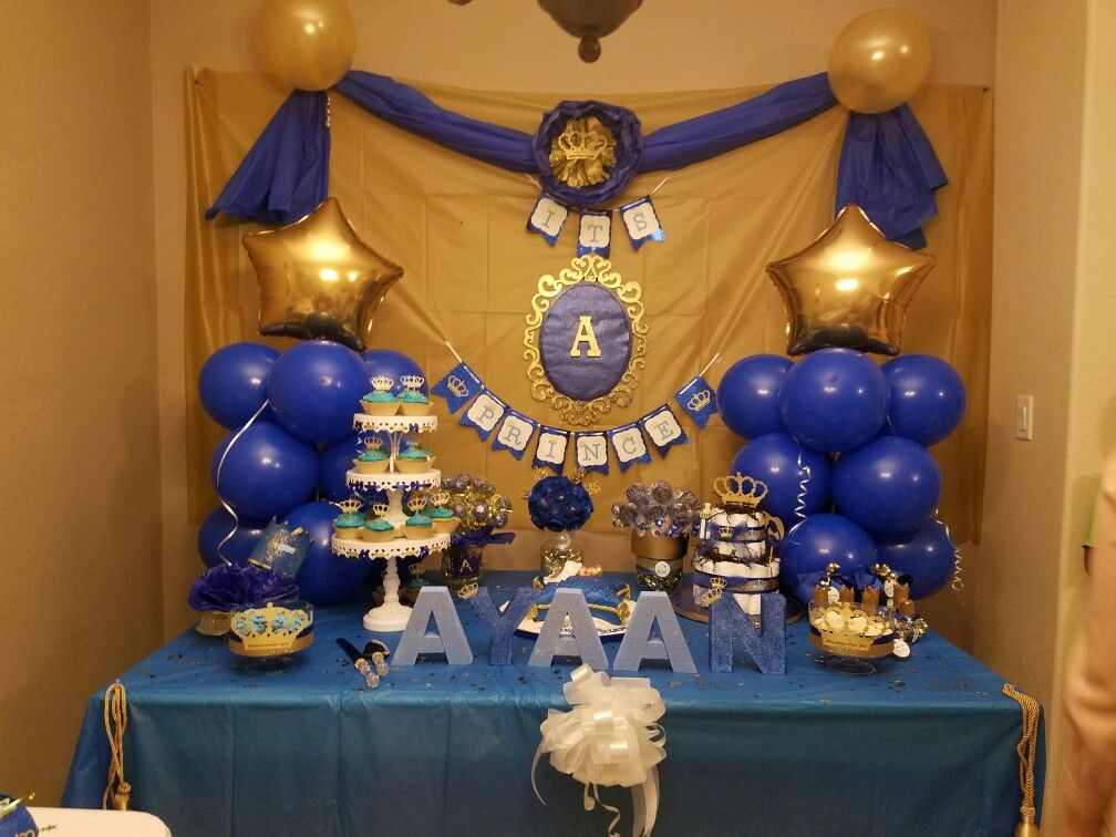 It's a prince baby shower ideas