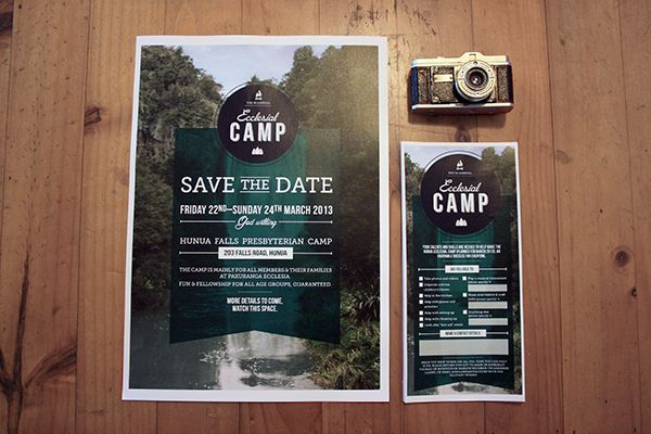 Camp Hunua by Knucklebones Design Co., via Behance