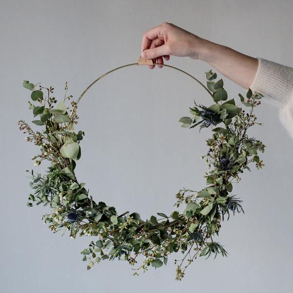 Kranz/ Ring Messing Strups Ringe 16cm #flowerfabric