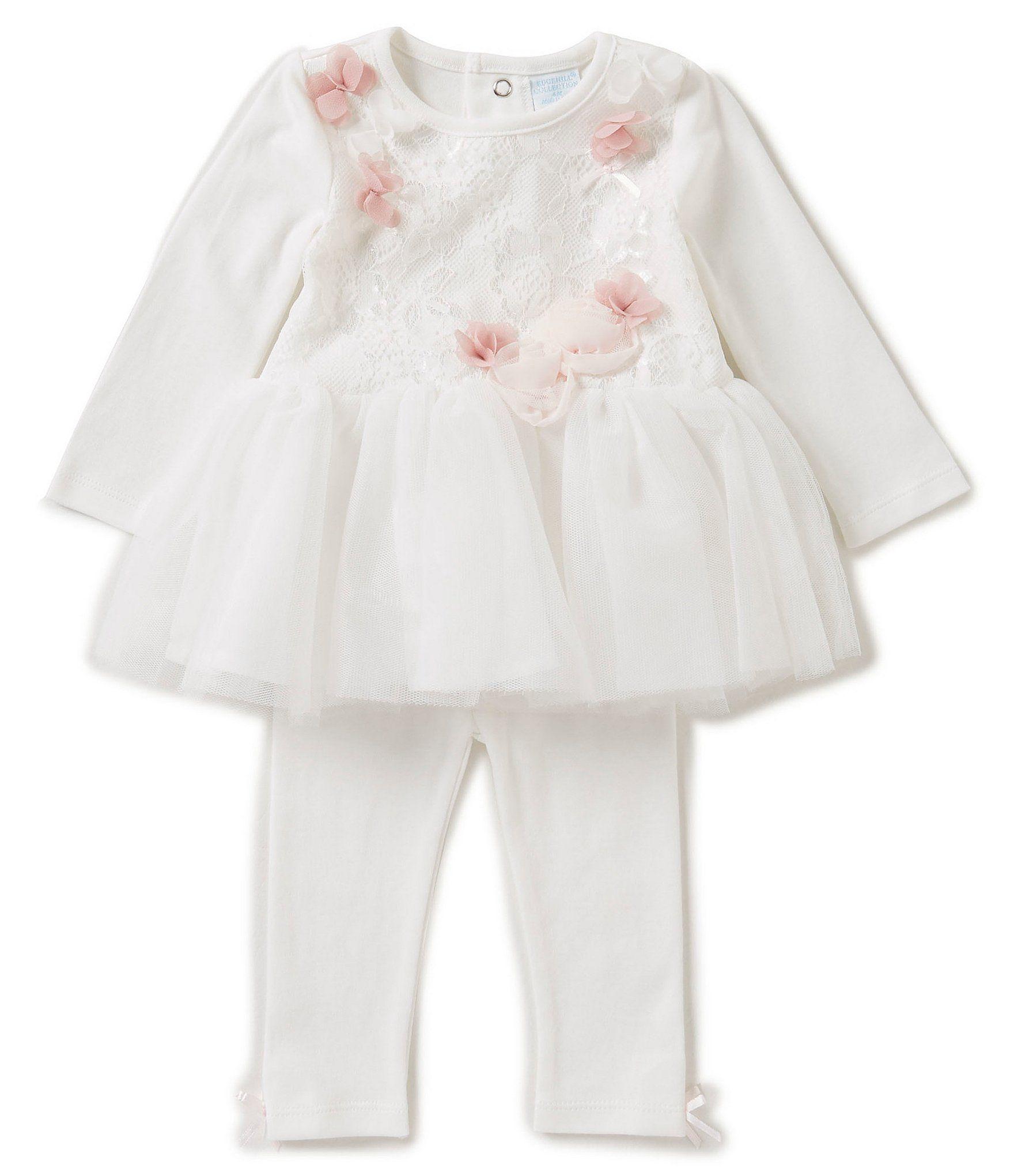 a5eae81a385b Edgehill Collection Baby Girls Newborn-6 Months Floral-Applique Tutu ...