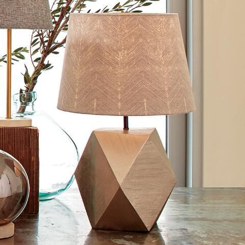 Faceted pewter flynn table lamp base pewter apartment ideas and crafted of faceted metal with a pewter finish our exclusive table lamp adds a mozeypictures Image collections