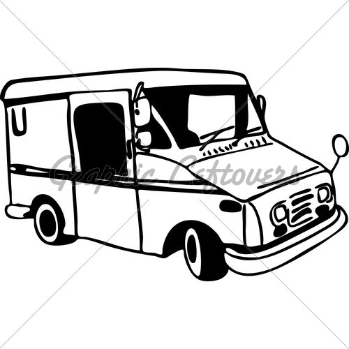 Mail Carrier Truck Coloring Page Truck Coloring Pages Mail Truck