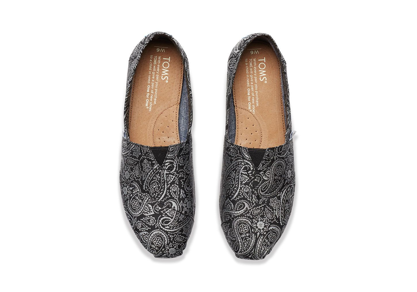 Black and Silver Paisley Women's Classics