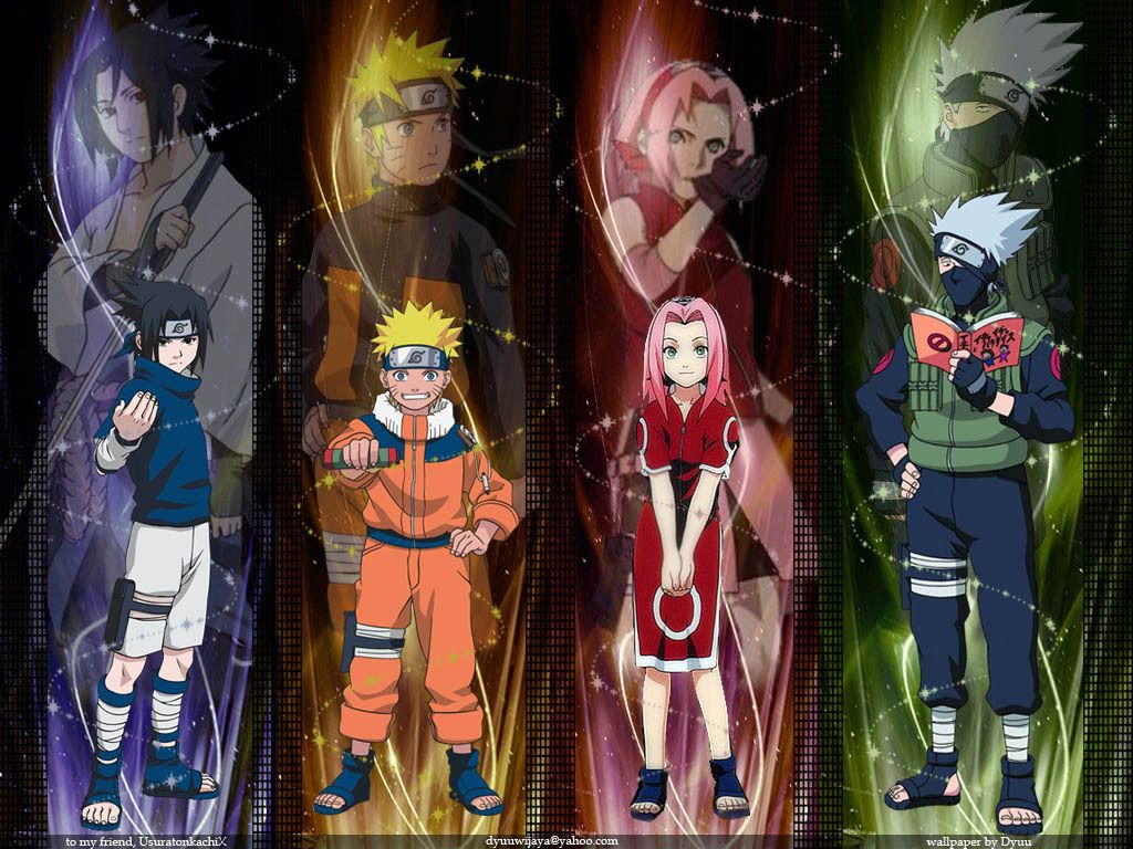 Team 7 B4 And Now Uzumaki Naruto Shippuuden Photo 29084119