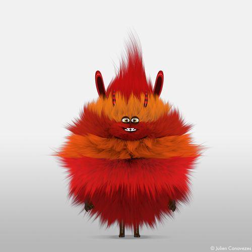 mascot 3D yeti by julien canavezes, via Behance