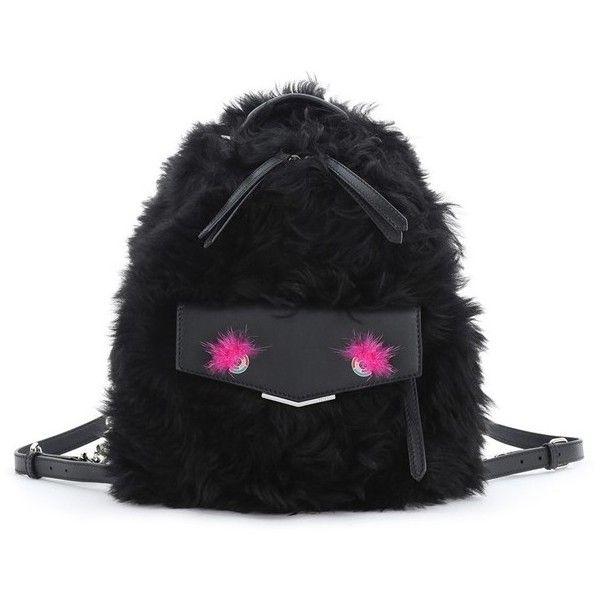 b6f1daf5a9f4 Fendi  Mini Monster  Genuine Shearling   Genuine Mink Fur Backpack ...