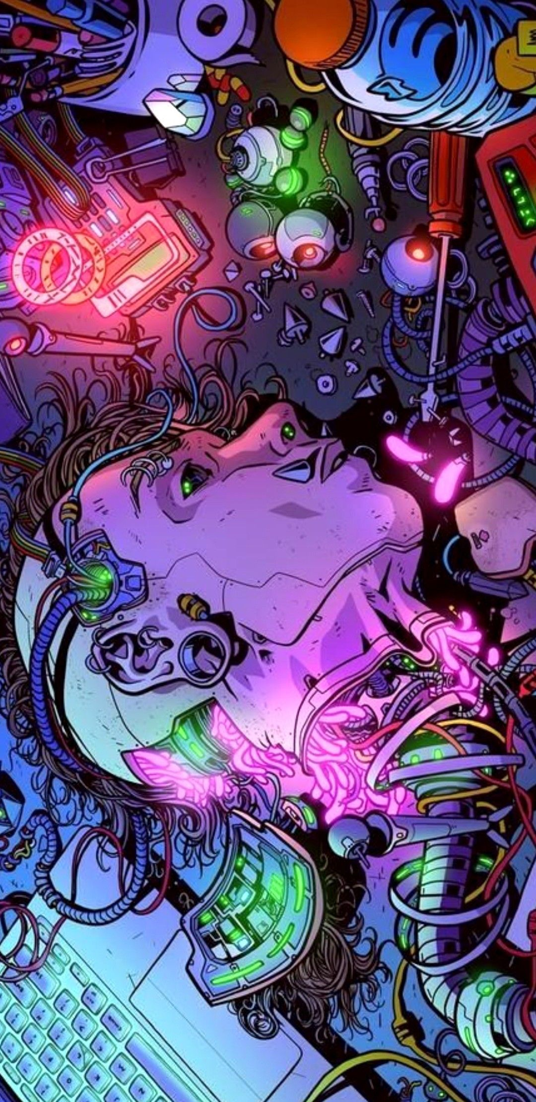 Pin By Teodora On Ariadna In 2020 Cyberpunk Art Psychedelic Art