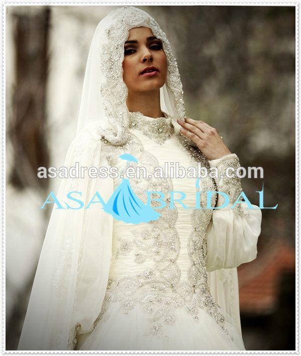 Plus size suzhou wedding dress heavy beads arabic lace for Turkish wedding dresses online
