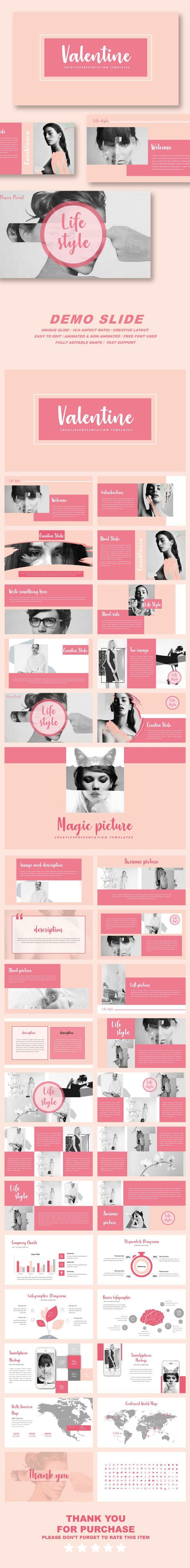 Valentine Multipurpose PowerPoint Templates Template Creative - Awesome valentine powerpoint backgrounds ideas