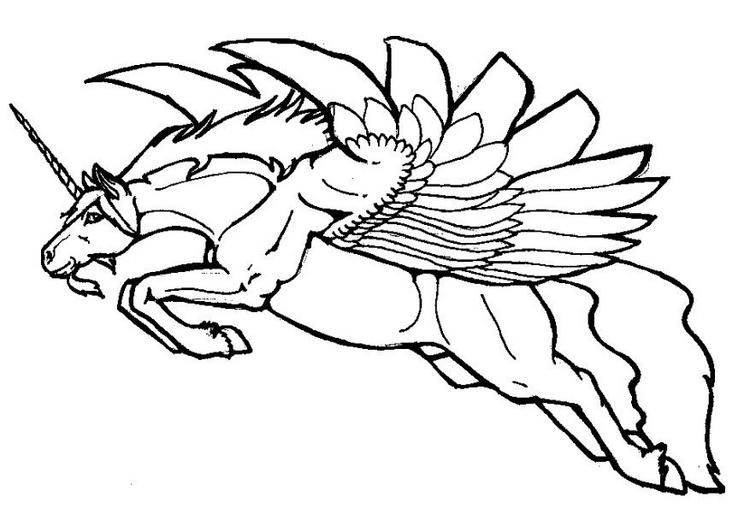 Flying Pegasus Tattoo Unicorn Coloring Pages Horse Coloring