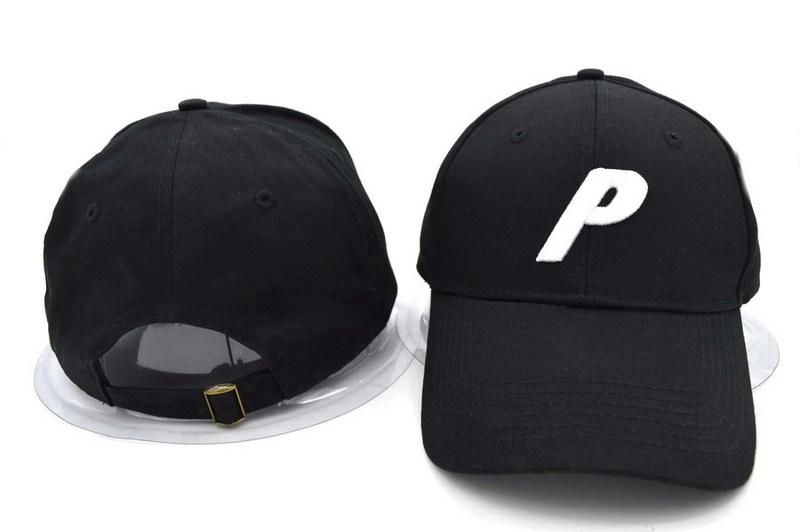 b11cfda30ec Mens Palace 6 Panel The Large Italicised Felt P Embroidery Logo Adjustable  Golf Cap - White on Black