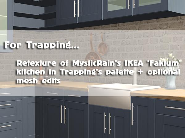 Faktum Ikea retexture of ikea faktum kitchen with mesh edits ts2 kitchen