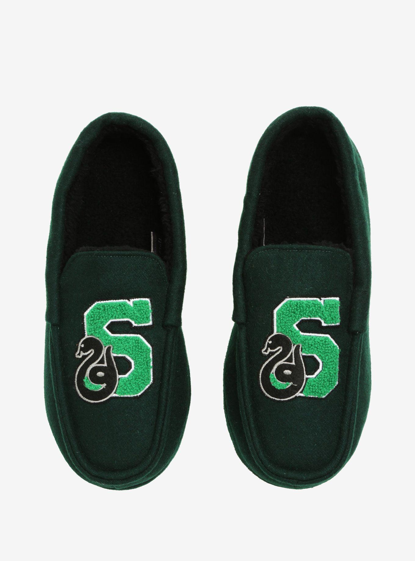 55e8ba13a34bf Harry Potter Slytherin Moccasin Slippers in 2019 | Slytherin Pride ...
