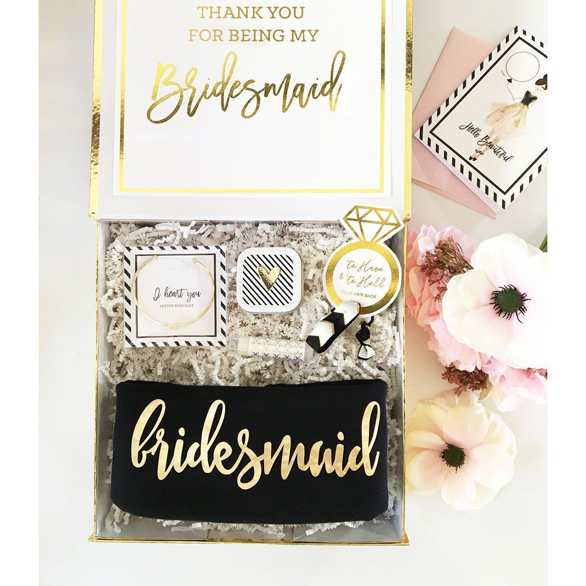 stunning personalized gift boxbirthday parties bridesmaid gift box ensembles the bridal shower baby showers wedding giftswhite gold box is
