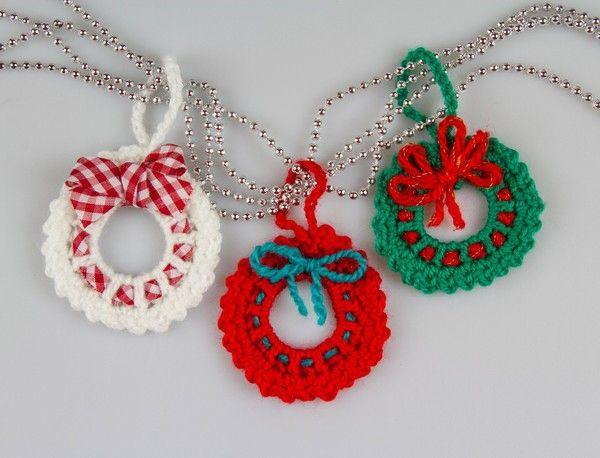 Photo of Crochet Christmas tree decorations // wreath // beginner