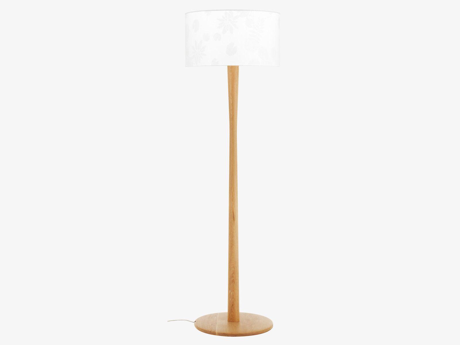 Pole Neutral Wood Oak Floor Lamp Base Habitatuk