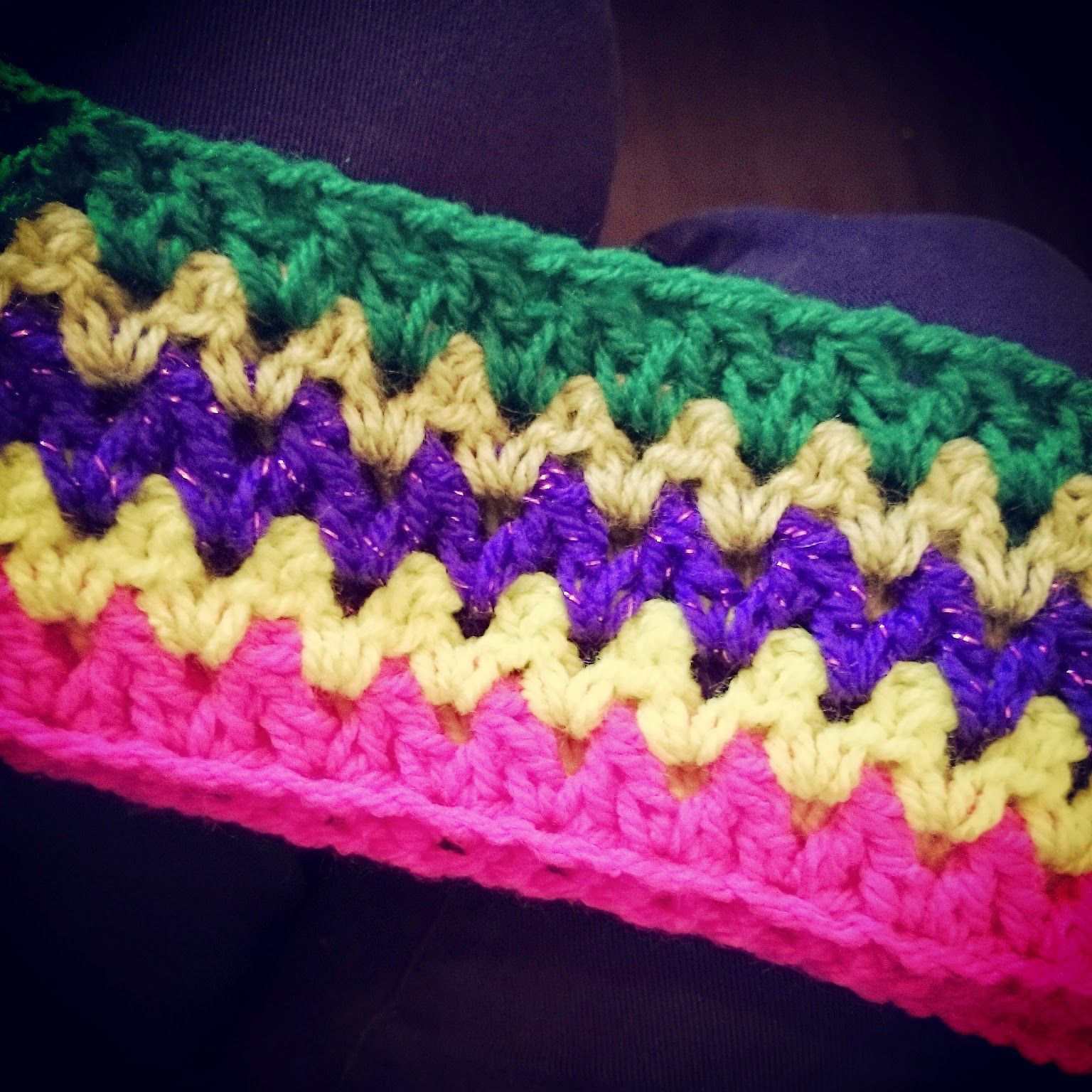 v stitch crochet travel blanket double crochet together method hook ...