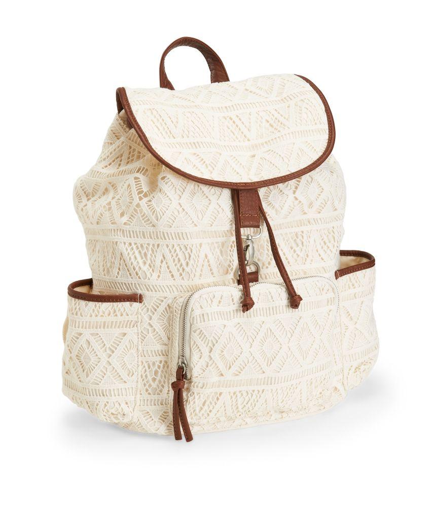 72252b6b2506 Crochet Backpack - Aeropostale. Maybe backpack for next year