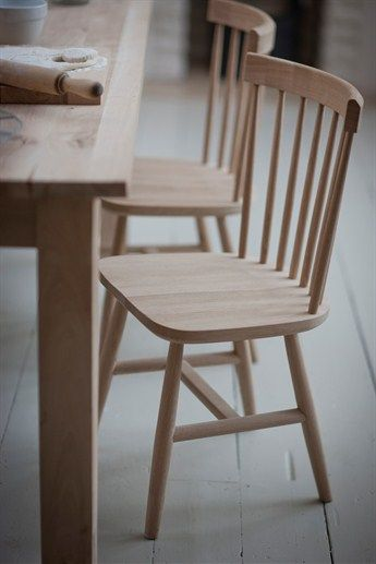 Raw oak Spindle Back Chair is the perfect seat for the ...