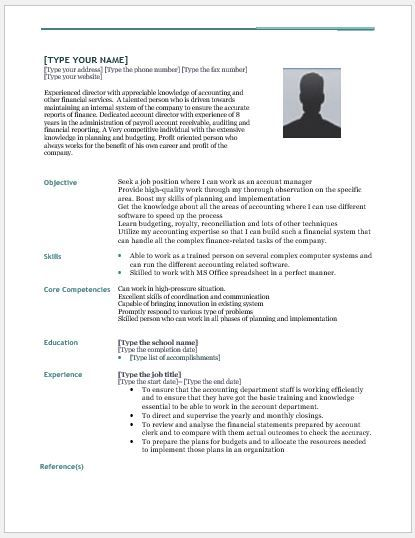 Accounting Director Resume Download At HttpWriteresumeOrg