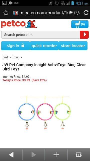 Jw Pet Company Insight Activitoys Ring Clear Bird Toy Pet Companies Jw Pet Bird Toys
