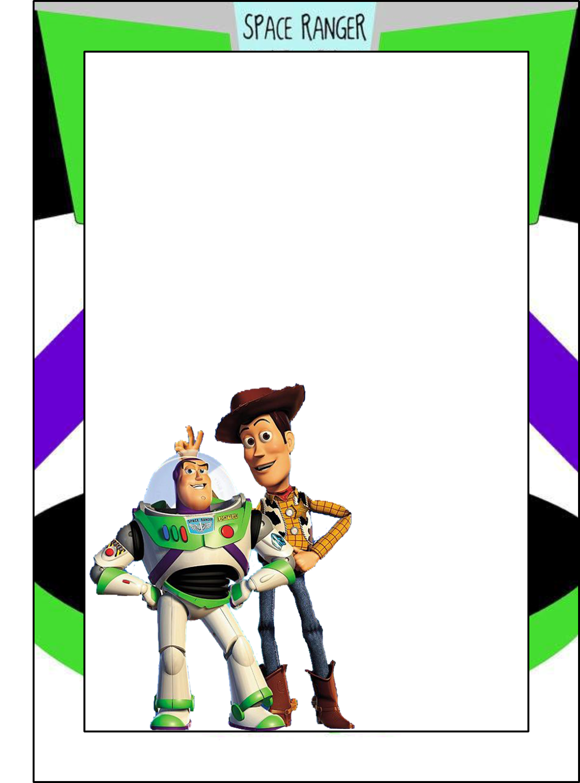 Toy Story Free Printable Frames Invitations Or Cards Toy Story Printables Toy Story Pictures Toy Story Invitations