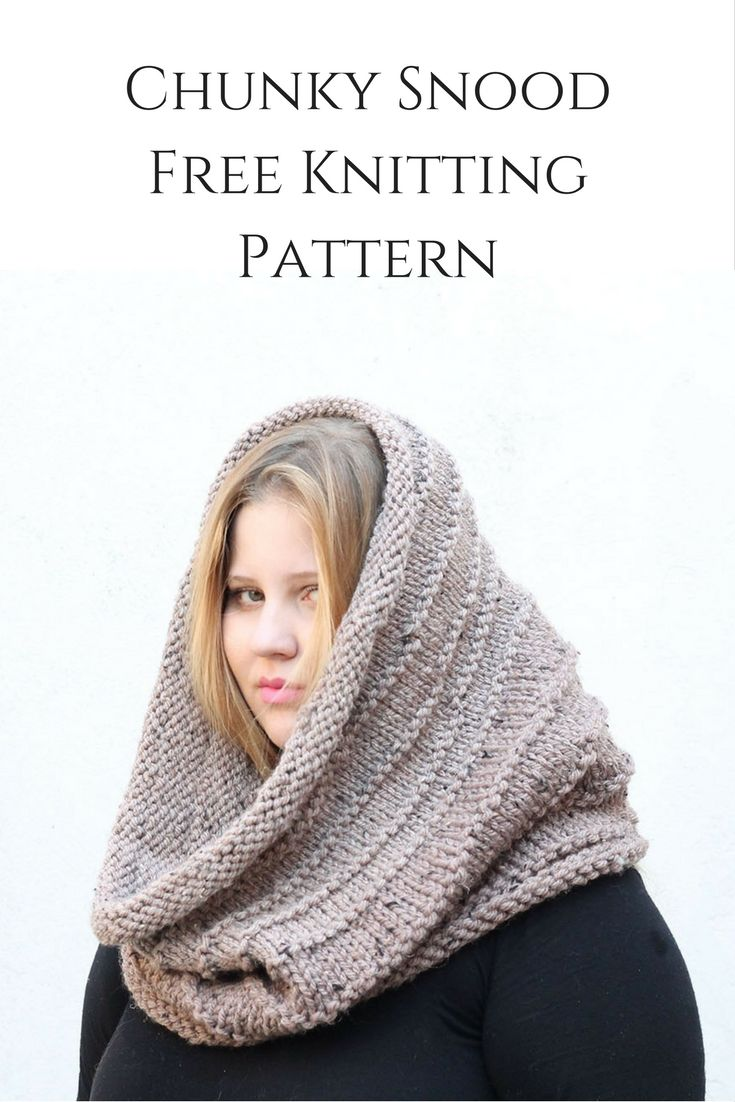 Make an oversized knitted snood for winter with this free and easy ...