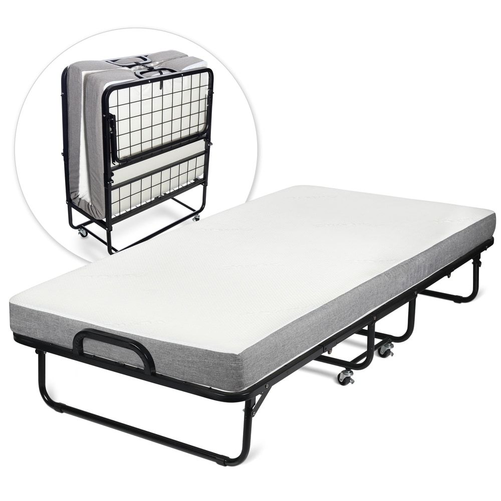 Milliard Diplomat Rollaway Folding Twin Size Guest Bed With