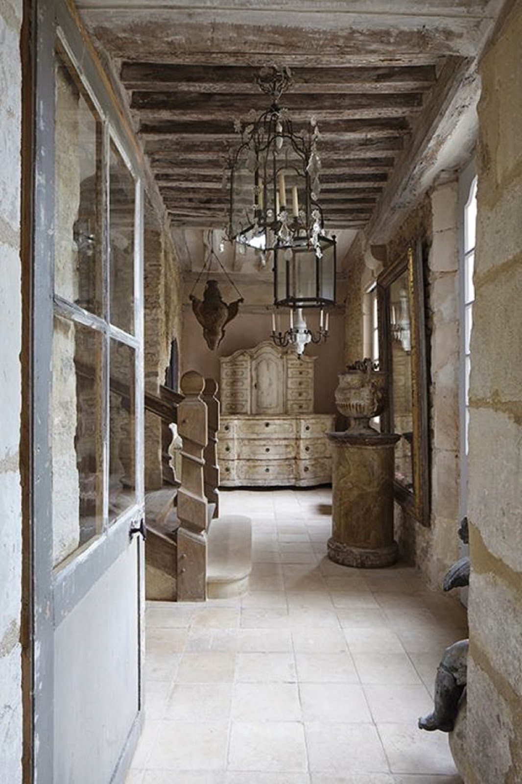 Country Home Interior Design: French Limestone Tiles