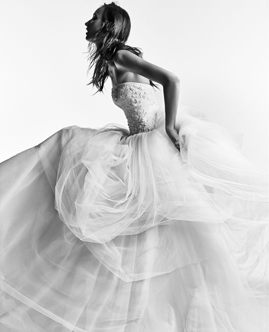 White by vera wang wedding gowns bridesmaid dresses and for Vera wang tea length wedding dress
