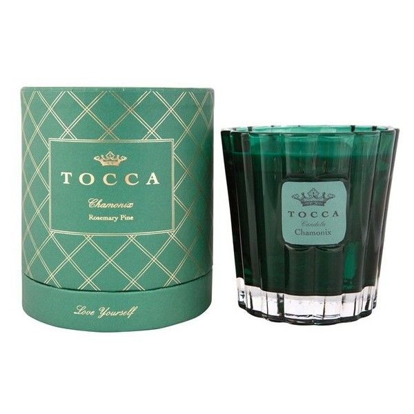Women's TOCCA 'Chamonix' Holiday Candle (59 AUD) ❤ liked on Polyvore featuring home, home decor, candles & candleholders, traditional home decor, fragrance candles, tocca candles, rosemary scented candles and inspirational home decor