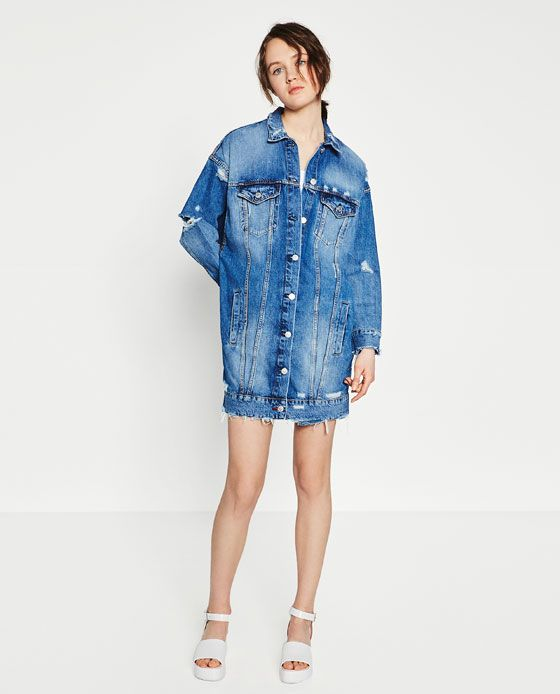 fc06fb9c8 LONG DENIM JACKET | Clothes & Accessories | Long denim jacket ...