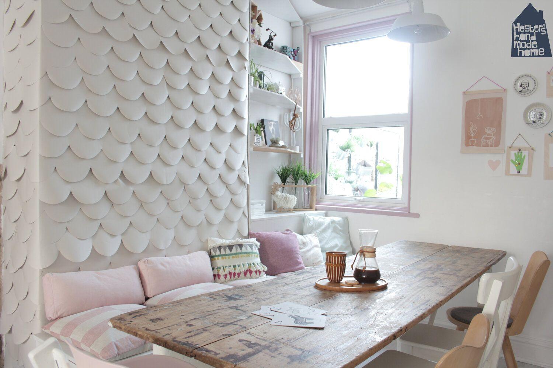 Low budget interior update, 3D wallpaper DIY   Handmade ...
