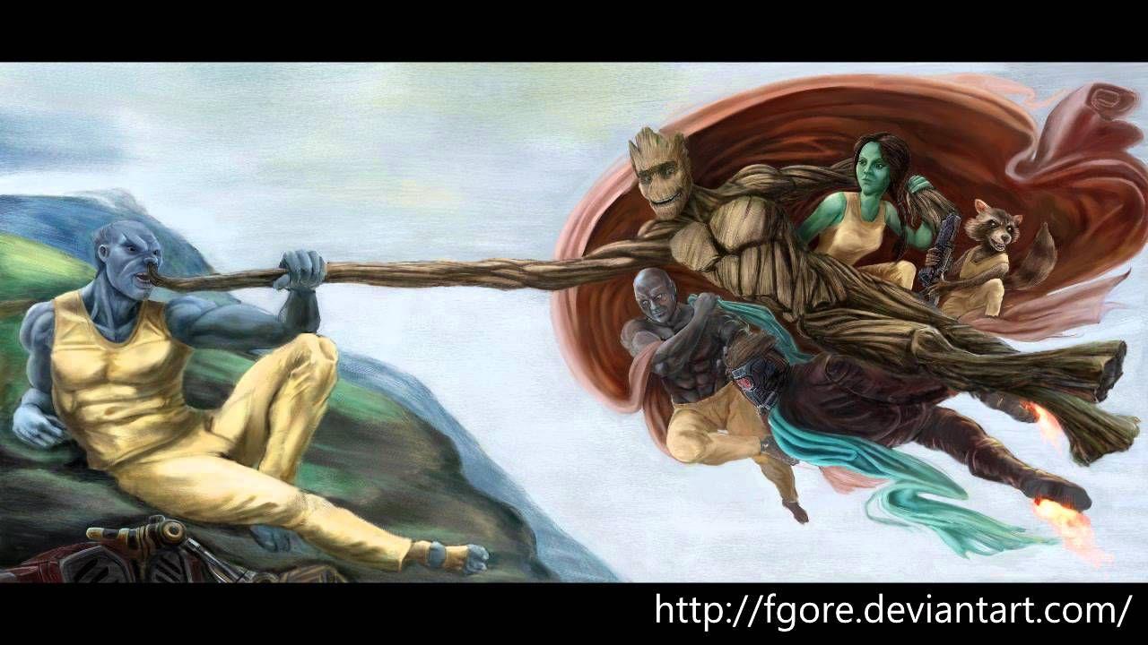 [fan art ] Guardians of the Galaxy - (work in progress  -WIP)