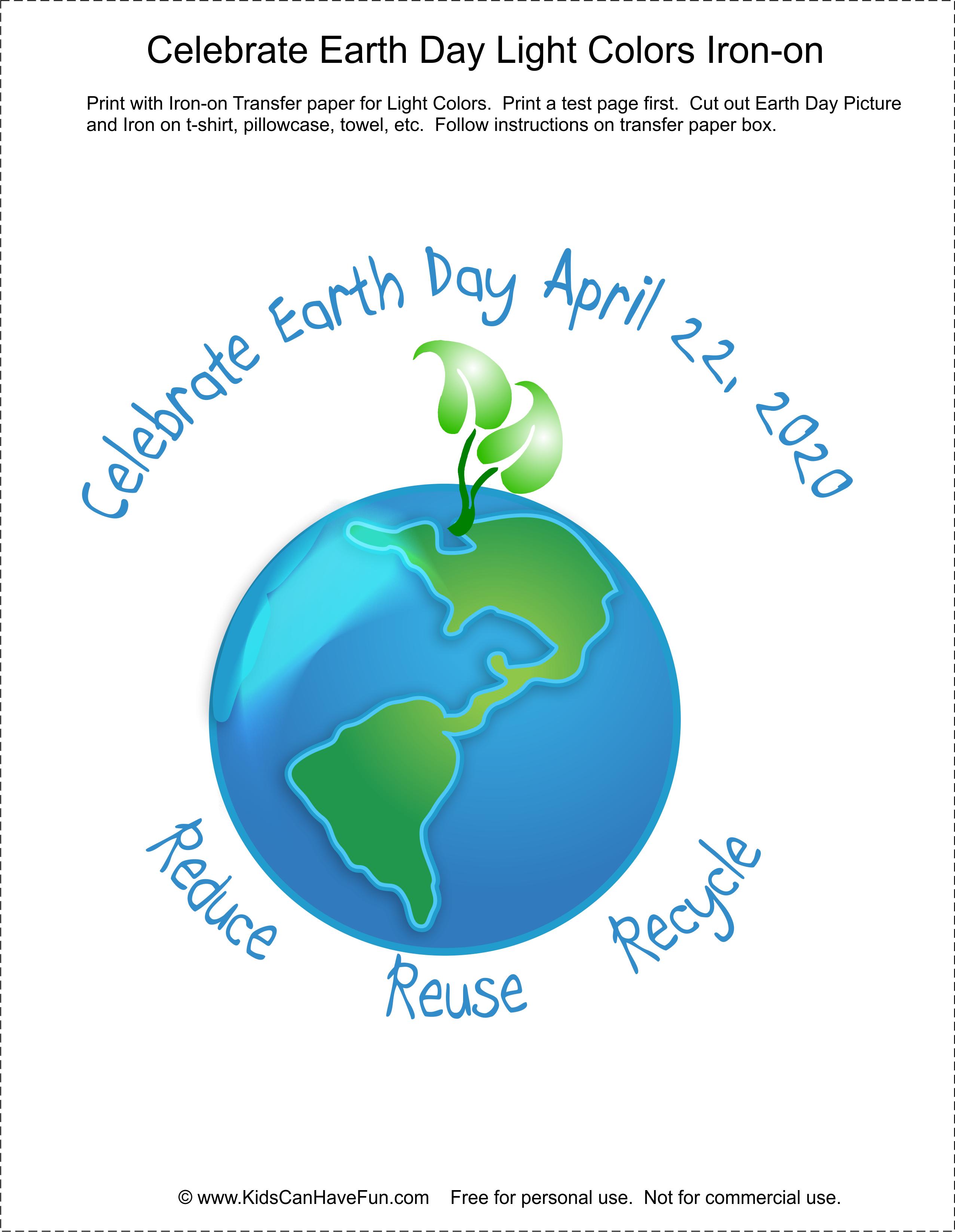 Diy Make An Earth Day T Shirt In