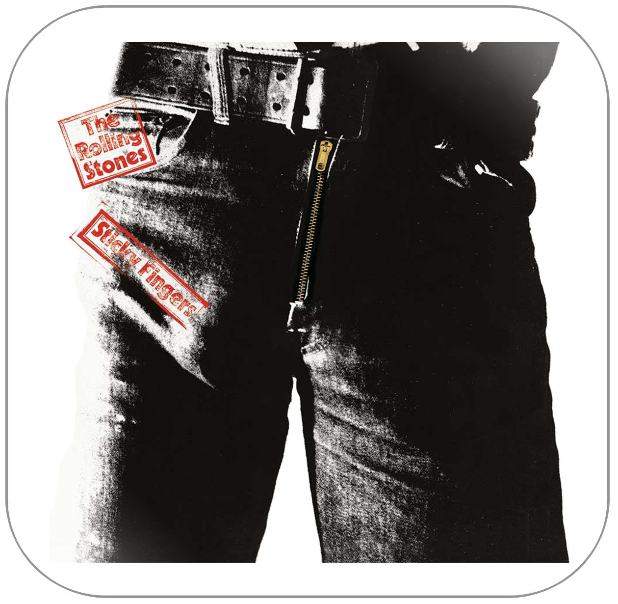 The Rolling Stones Sticky Fingers Album Cover Sticker Rolling Stones Sticky Fingers Rolling Stones Vinyl Sticky Fingers