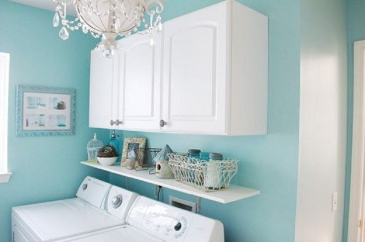 Tiffany Blue Paint Color Ideas Tiffany Blue Painted Laundry Room