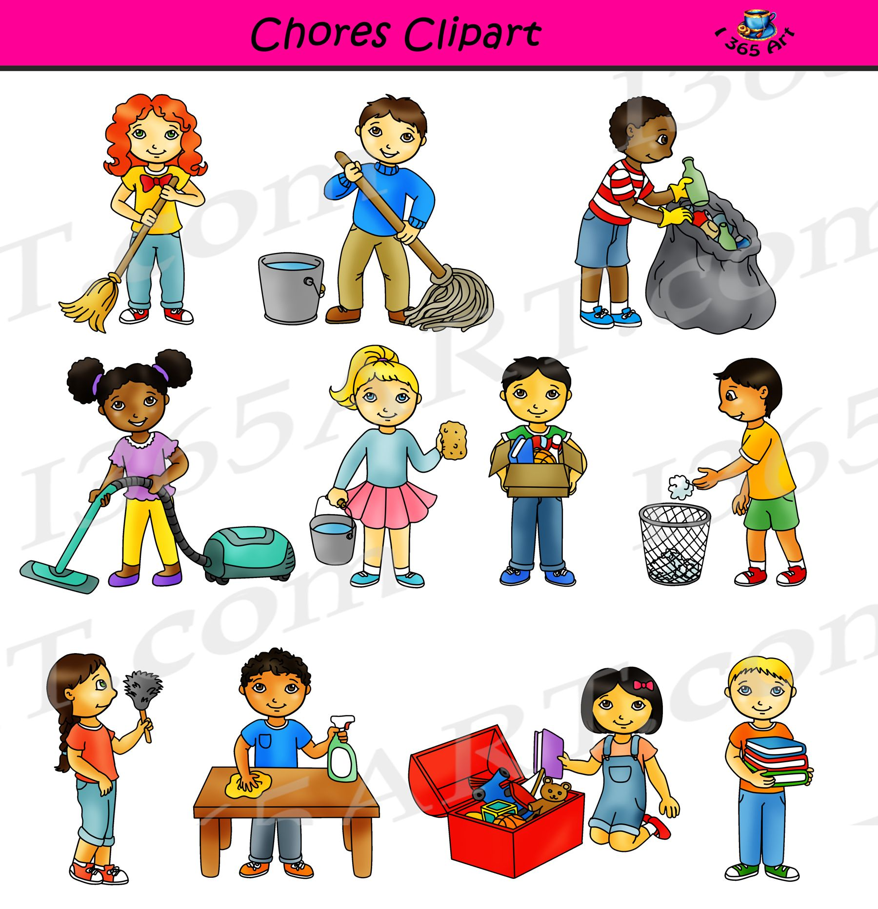 Chores Clipart Classroom Cleaning Commercial Graphics Clean