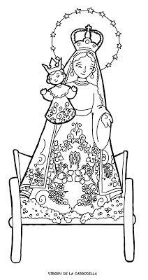 Dibujos Para Catequesis Virgen De La Carrodilla En 2020 Dibujos Semana Santa Ninos Personajes De Terror