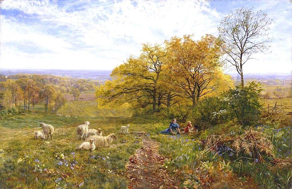 Springtime Vicat Cole 1865 Manchester art