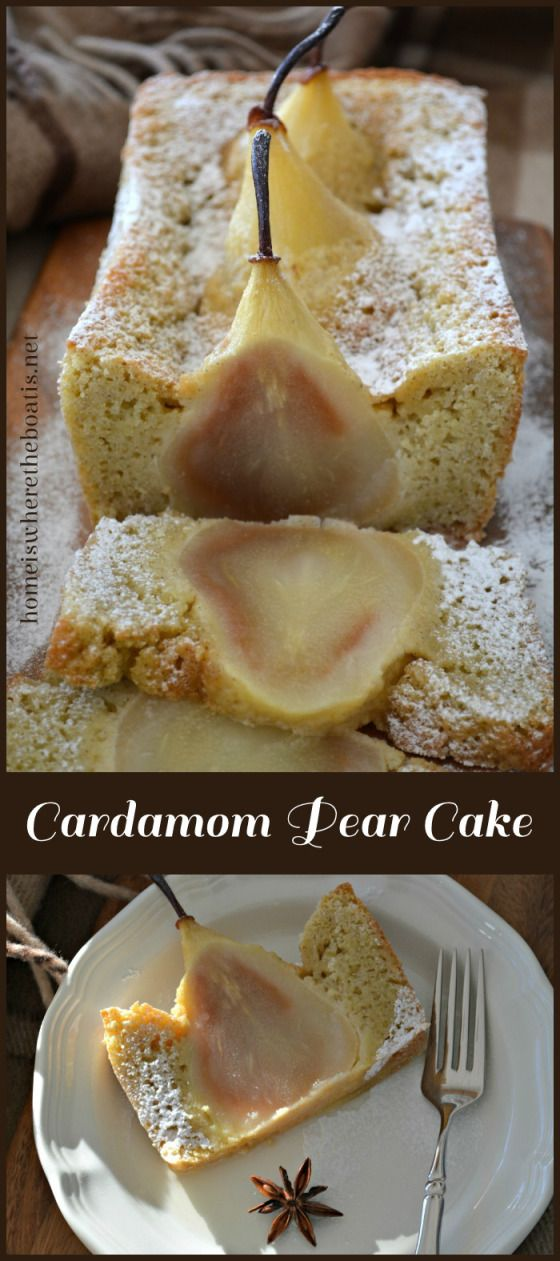 Cardamom Cake with Whole Pears