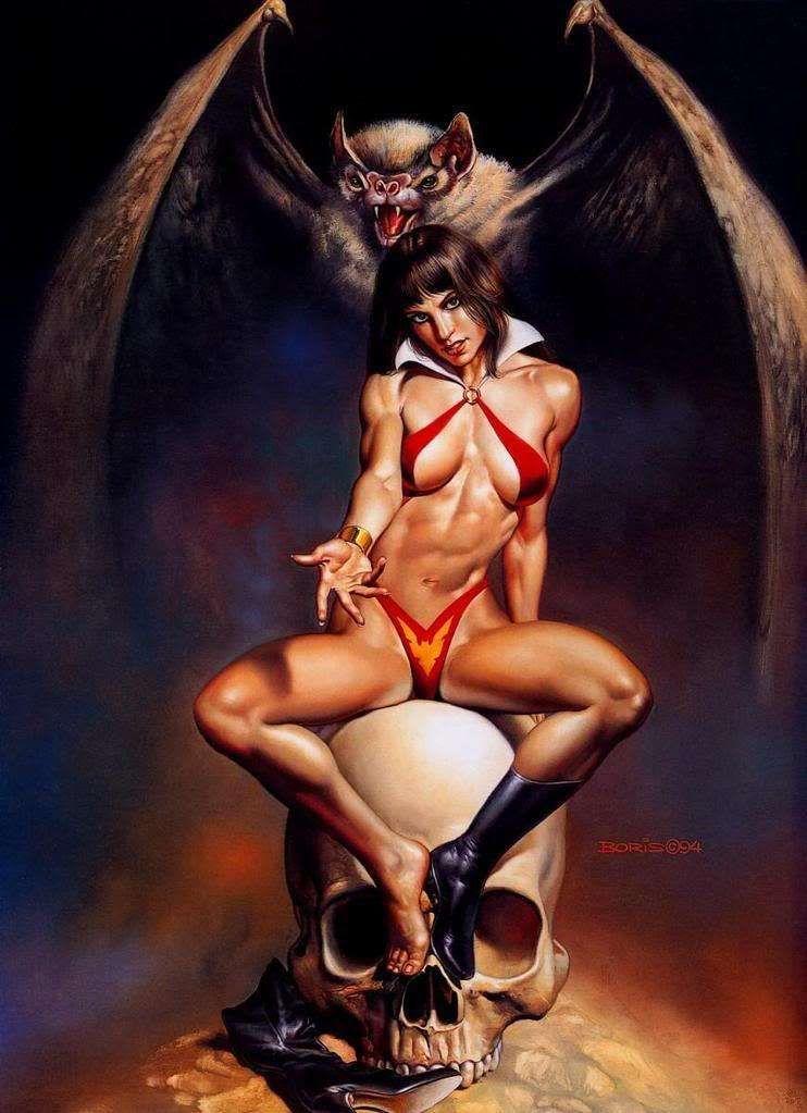 Sexy comic book heroine