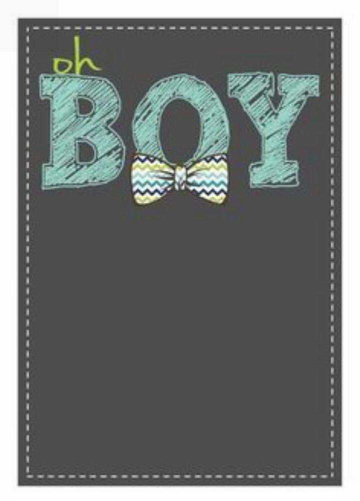 Invitación Nota Oh Boy Plantillas De Invitación Para Baby