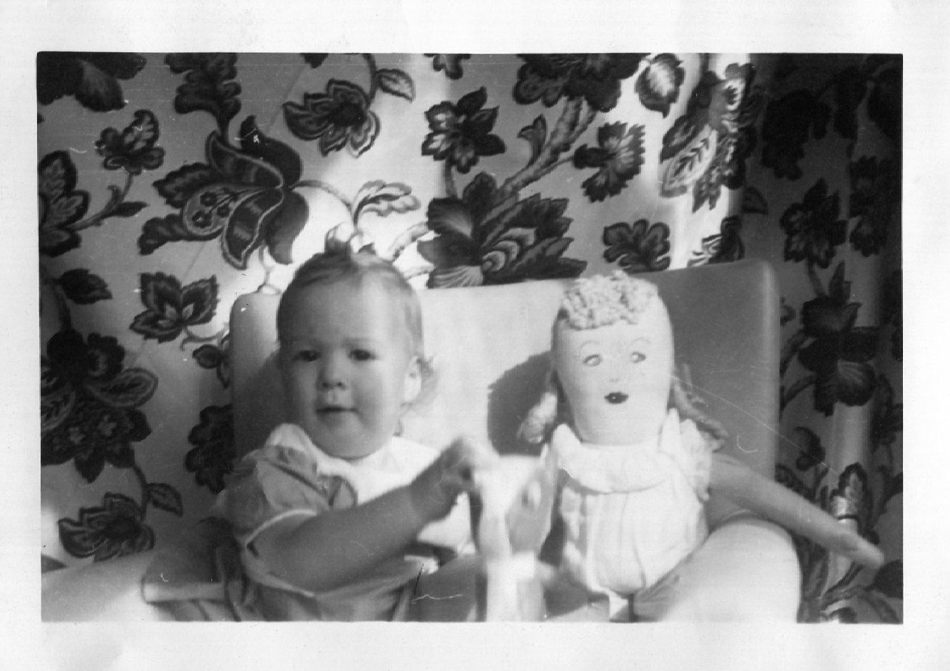 Vintage Photo..Her First Doll 1950's, Original Photo, Old Photo Snapshot, Vernacular Photograhy, American Social History Photo by iloveyoumorephotos on Etsy