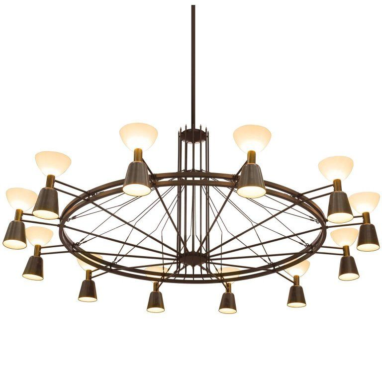 Extra Large Dutch Chandelier Circa 1950 1 Cool
