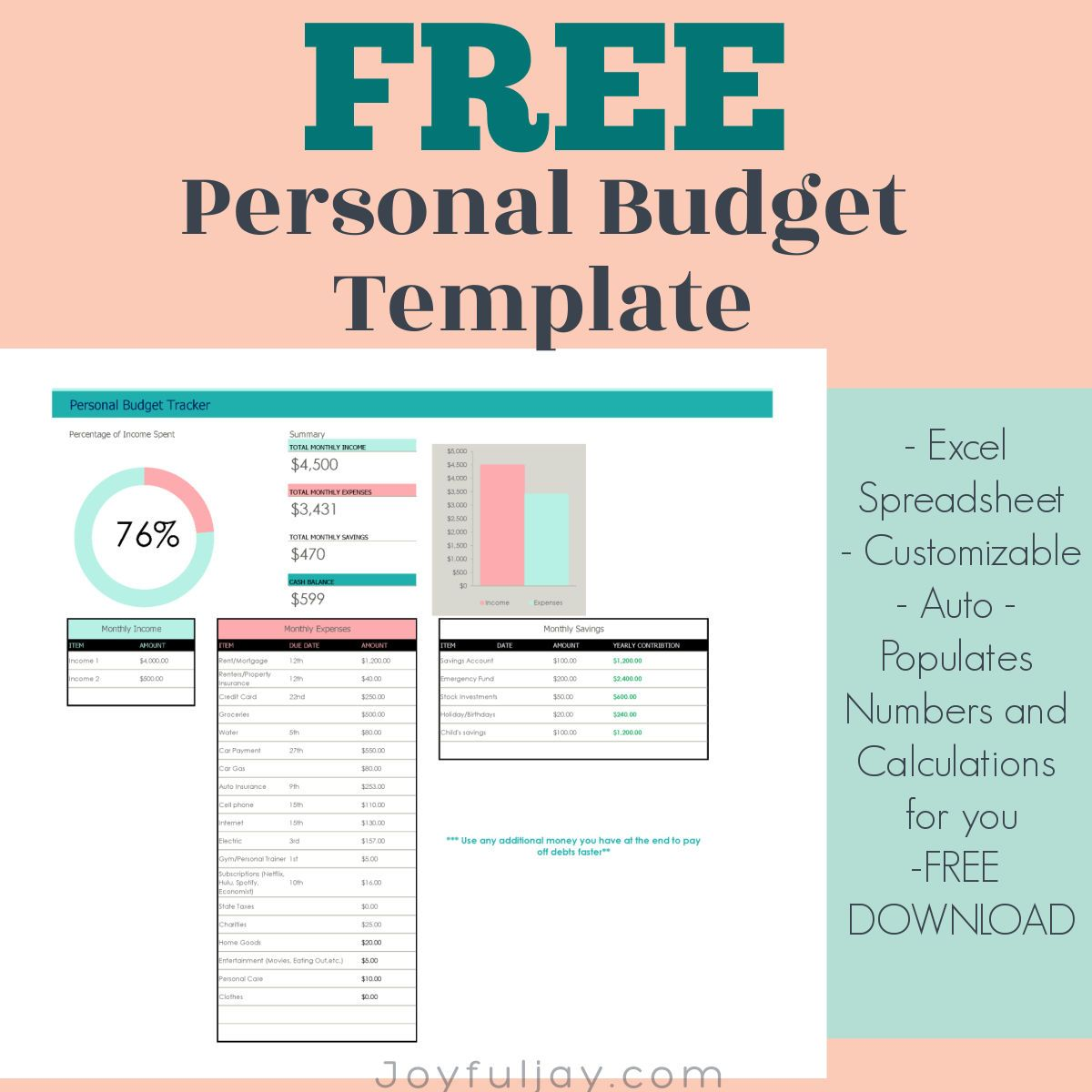 Free Budget Worksheet In